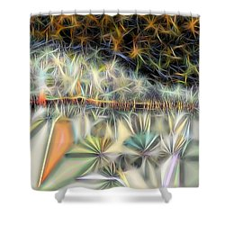 Shower Curtain featuring the digital art Sparks by Ron Bissett