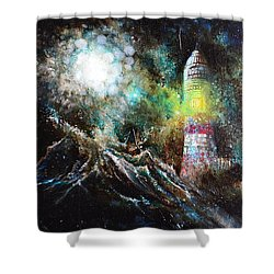 Sparks - The Storm At The Start Shower Curtain by Sandro Ramani