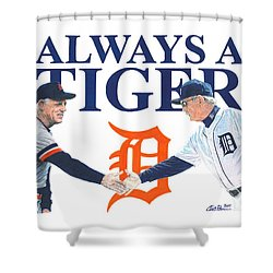 Sparky Anderson And Jim Leyland Shower Curtain