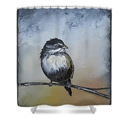 Sparrow Shower Curtain by Carolyn Doe