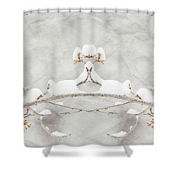 Sparrow In The Cherry Tree Shower Curtain
