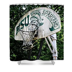 Sparty Practice Hoop Shower Curtain