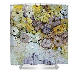 Shower Curtain featuring the painting Spash Of Sunshine by Joanne Smoley