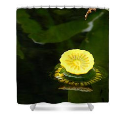 Spatterdock Reflections Shower Curtain