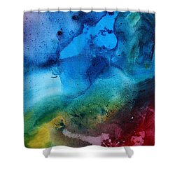 Speak To Me 3 Shower Curtain by Megan Duncanson