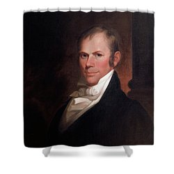 Shower Curtain featuring the painting Speakers Of The United States House Of Representatives, Henry Clay, Kentucky  by Matthew Harris Jouett