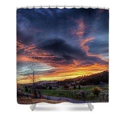 Spearfish Canyon Golf Club Sunrise Shower Curtain