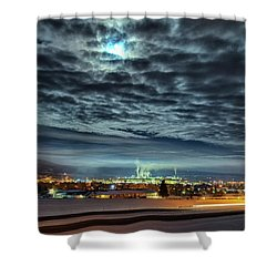 Spearfish Under The Moon Shower Curtain