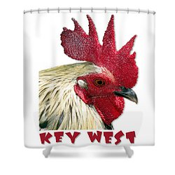 Special Edition Key West Rooster Shower Curtain