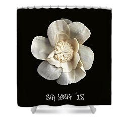 Special Magic Flower - For A Special Lady Shower Curtain by Sir Josef - Social Critic -  Maha Art