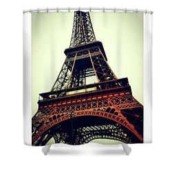 Classic Eiffel Tower Shower Curtain