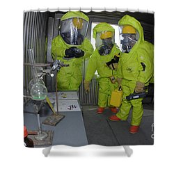 Specialists Survey A Simulated Area Shower Curtain by Stocktrek Images