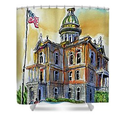 Spectacular Courthouse Shower Curtain