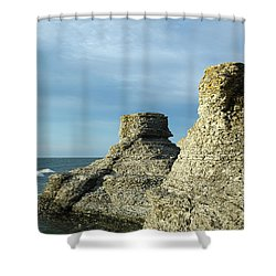 Shower Curtain featuring the photograph Spectacular Eroded Cliffs  by Kennerth and Birgitta Kullman