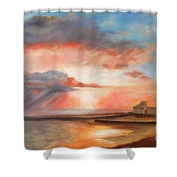 Spectacular On Folkestone Harbour Shower Curtain