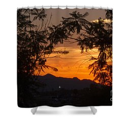 Spectacular Sky Shower Curtain by Anne Rodkin