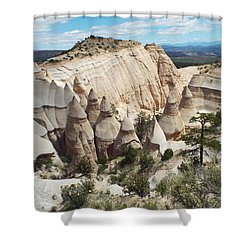 Spectacular Slot Canyon Trail View-at-the-top Shower Curtain by Cindy Croal