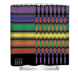 Spectral Integration Shower Curtain