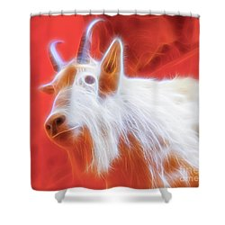 Spectral Mountain Goat Shower Curtain