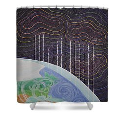 Spectrum Earth Spacescape Shower Curtain