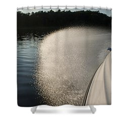 Speed Boat Shower Curtain by Gary Eason