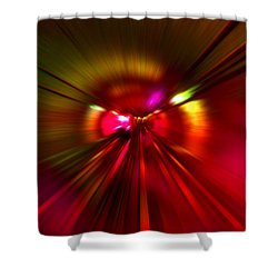 Speed - Metro Subway Train Shower Curtain by Menega Sabidussi