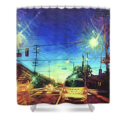 Speed Of Light Shower Curtain