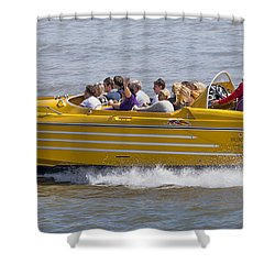 Speedboat Ride Shower Curtain