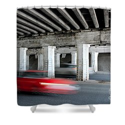 Speeding Car Shower Curtain