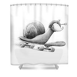 Speedy Shower Curtain