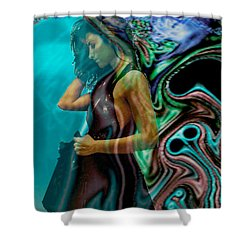 Shower Curtain featuring the digital art Spell Of A Woman by Seth Weaver