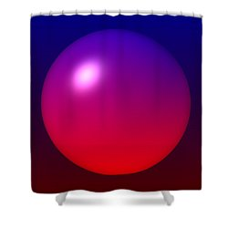 Shower Curtain featuring the digital art Sphere by Lyle Hatch