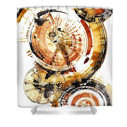 Shower Curtain featuring the painting Sphere Series 1020.050112 by Kris Haas