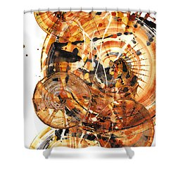 Shower Curtain featuring the painting Sphere Series 1021.050212 by Kris Haas