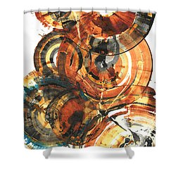 Shower Curtain featuring the painting Sphere Series 1022.050212 by Kris Haas