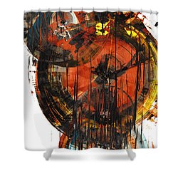 Shower Curtain featuring the painting Sphere Series 1023.050312 by Kris Haas