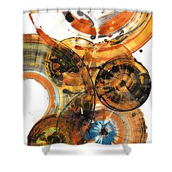 Shower Curtain featuring the painting Sphere Series 1024.050312 by Kris Haas