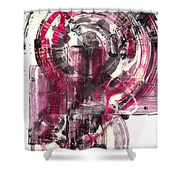 Shower Curtain featuring the painting Sphere Series 1026.050412 by Kris Haas
