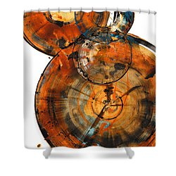 Shower Curtain featuring the painting Sphere Series 1027.050412 by Kris Haas