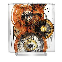 Shower Curtain featuring the painting Sphere Series 1028.050412 by Kris Haas
