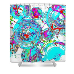 Spheres Series 1511.021413invfddfs-sc-2 Shower Curtain