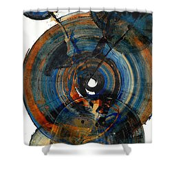 Shower Curtain featuring the painting Spherical Joy Series 03.030211 by Kris Haas