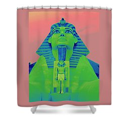 Sphinx And Pink Sky Shower Curtain