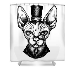 Sphynx Gentleman Shower Curtain