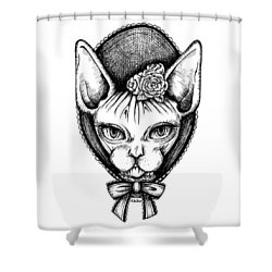 Sphynx Lady Shower Curtain