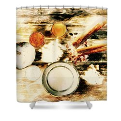 Spice Brown  Shower Curtain