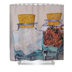 Spice Jars Shower Curtain