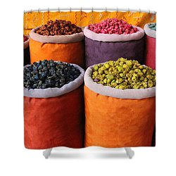 Shower Curtain featuring the photograph Spice Rainbow by Ramona Johnston