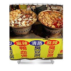 Shower Curtain featuring the photograph Spicy And Herbal Hot Pot Food by Yali Shi