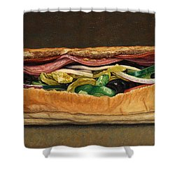 Spicy Italian Shower Curtain by James W Johnson